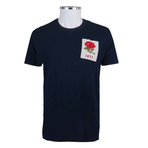 England-1871-Rugby-T-Shirt-Navy-Vintage-Style-Front