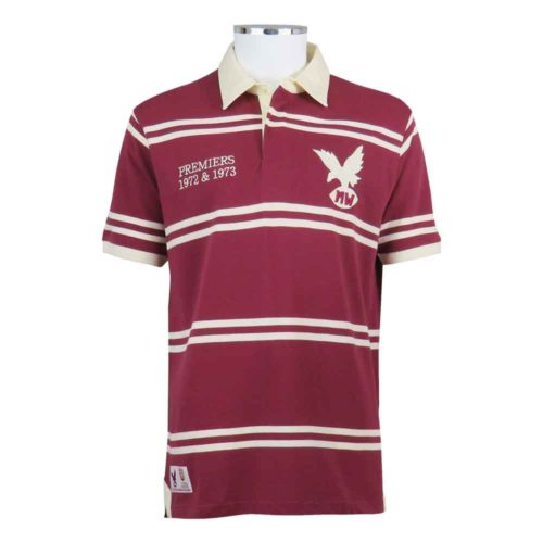 Manly Rugby League Shirt Polo Mal Reilly Hall of Fame Front