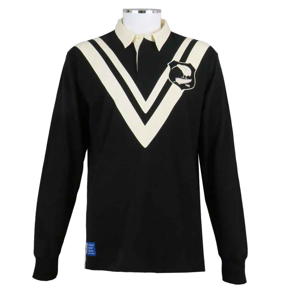 New Zealand Rugby League Shirt Vintage Style Front