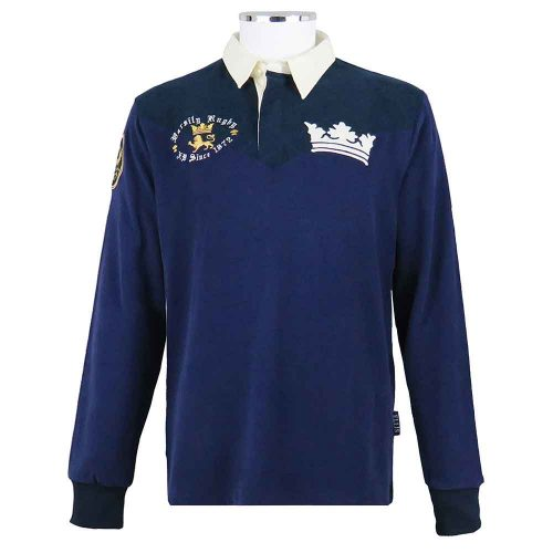 Oxford-Varsity-Rugby-Shirt-Dark-Blues-Vintage-Front