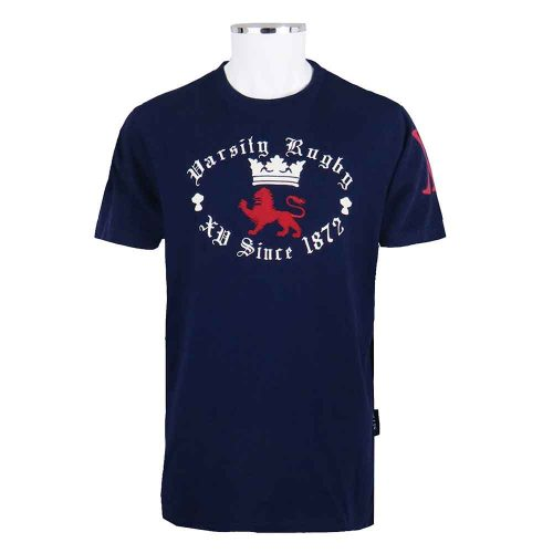 Retro-Varsity-Rugby-T-Shirt-Vintage-Navy-front