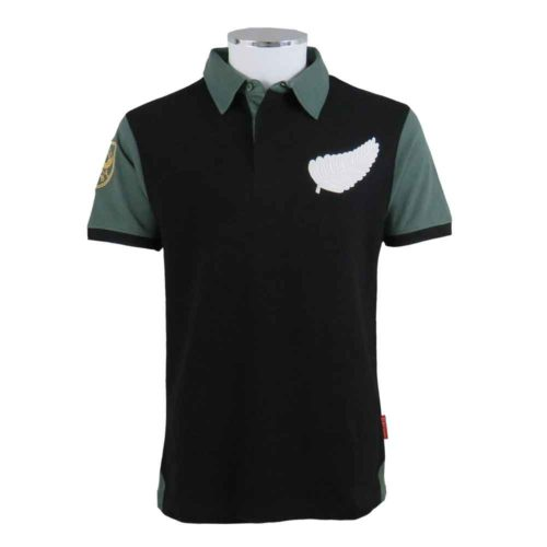 New Zealand Retro Rugby Shirt Polo Front