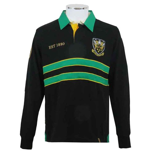 Northampton-Saints-Rugby-Shirt-Vintage-Heritage-Style-Front