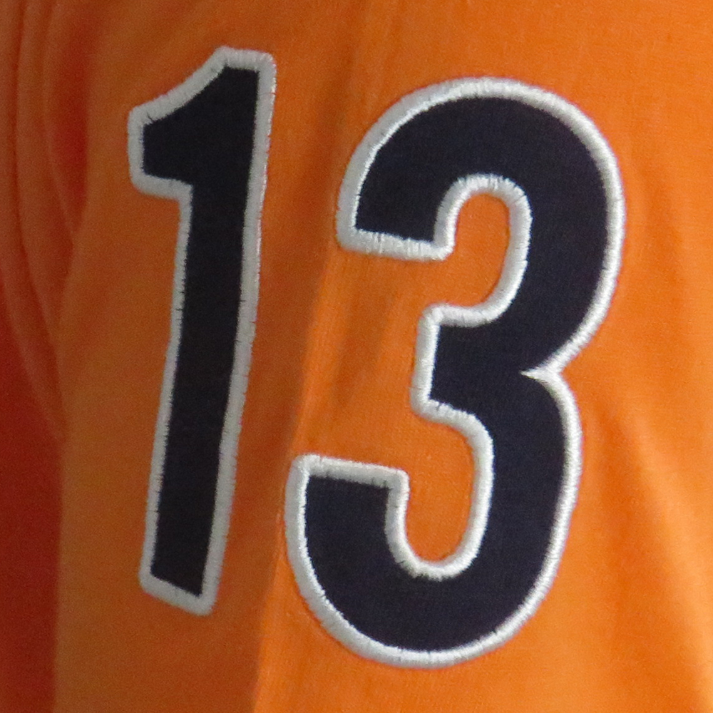 New York Rugby League Orange T-Shirt Number Detail Image