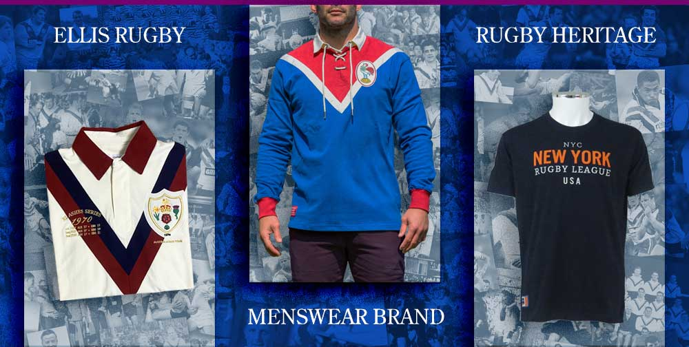 Ellis Rugby League Menswear Clothing-Brand